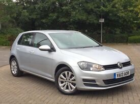 2013 VOLKSWAGEN GOLF 1.6TDI DSG SE BLUEMOTION 5-DOOR 1 OWNER FVWSH AUTO MK7