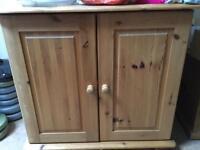 Stripped pine cupboard