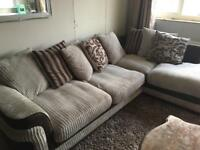 DFS corner sofa, foot stall and swivel chair.