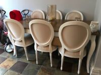 French Dining Table and 6 Chairs