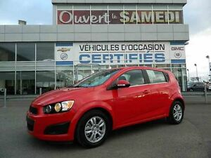 2016 Chevrolet Sonic LT turbo + came de recul