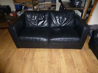 Two-Seater Leather Couches for sale