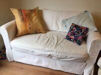 Ikea Hagalund Sofa Bed with extra brand new white cover