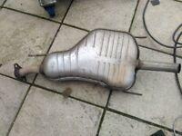 Vauxhall Zafira exhaust system