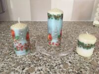 Brand new! Set of 3 decorative candles! Ideal gift!