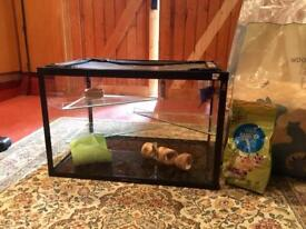 Large gerbil/hamster cage - glass