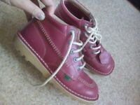 Pink kickers shoes size 4