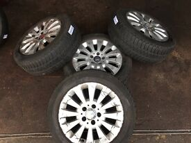 """MERCEDES BENZ ALLOY WHEELS 16"""" inch with tyres"""