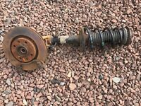 Citroen DS3 1.6 Hdi front strut hub and spring comes complete year 13