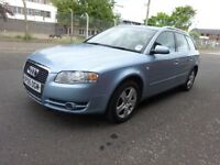 2005 AUDI A4 ESTATE 2.0 PETROL,1 OWNER CAR,FULL YEAR MOT,2 REMOTE KEYS,HPI CLEAR,WARRANTY MILEAGE