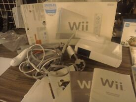 Wii console,games and equipment