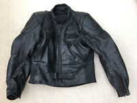 Motorcycle leathers full set - jacket, trousers and gloves