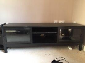 IKEA Linnarp TV stand/bench in black/brown
