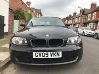BMW 1 series (2009) 118d ES 3 Door Black - Good condition & FSH