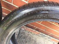 225 45 17 91W x2 Continental ContiSport5 FR MO Tyres (both 3mm)