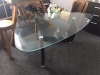 Glass Coffee table for Sale - Herman Niller Noguchi styled
