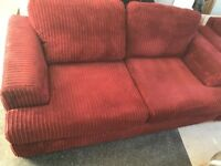Beautiful red sofa & sofa bed, excellent condition and very comfortable