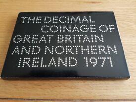 PROOF 1971 DECIMAL COIN SET