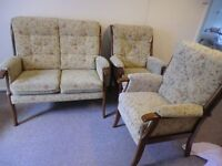 Consevertary/ Lounge Queen Ann style 2 seater sofer and 2 chairs