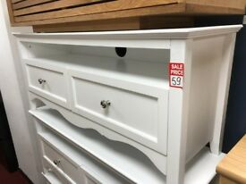 2 drawer TV unit - white