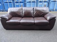 Sofa bed Brown Real Leather ,Can Deliver
