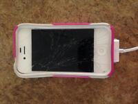 White IPhone 4s & otter box