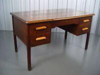 Vintage Abbess Teachers Writing Desk Retro Furniture