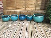 Ceramic glazed plant pots