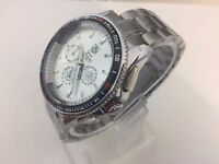 TAG HEUER Grand CARRERA Calibre 17 Stainless steel automatic watch with white dial