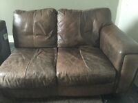 FREE Leather corner sofa and foot stool