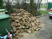 Huge pile of rocks stone free to collector or collectors