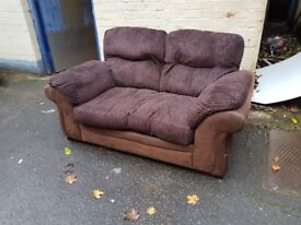 Brown fabric sofa. FREE delivery in Derby