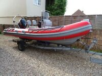 X Pro Defender 535 RIB Boat. Suzuki 70hp EFI. Hypalon Tubes. 2012 Immaculate.