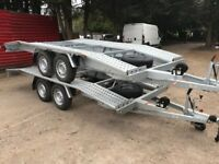 NEW GALAVANISED CAR TRANSPORTER RECOVERY TRAILER 2700KG TWIN AXEL 4.5 M 15FT LONG 2.0 M WIDTH