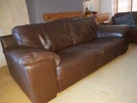 Brown italian leather sofas