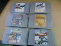 NINTENDO 64 GAMES GREAT CONDITION.