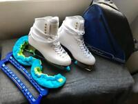 Women's Size 39 Graf 500 White Ice Skates/Accessories