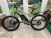 Carrera Vulcan electric bike. 2 weeks old as new condition 18 inch frame