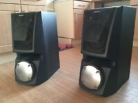 Large Sony speakers with subs