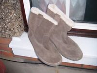 mens grey suede boots size 11 by cotton