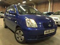 2006 (Sep 56) KIA PICANTO 1.1 LX - 5 Door Hatchback - Petrol - Manual - BLUE *MOT till 19 JUN 2017*