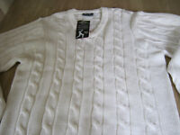 SLAZENGER CRICKET JUMPER SIZE XL (NEW WITH TAGS)