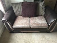 2 seater sofa and cuddler sofa with iPod docking station including bluetooth