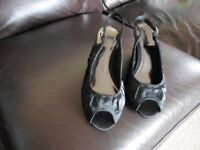 NEW Black Sling Back Shoes Size 5