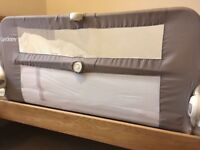 Lindam folding single bed guard, neutral colour. RRP £25