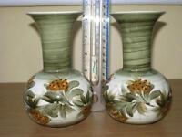 2 Jersey Pottery Vases