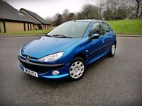 2005 PEUGEOT 206 S...1.4 PETROL...LOW MILEAGE...ONLY 2 OWNERS...FSH...MOT SEPTEMBER