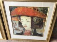 2 beautiful pictures of Oriental ladies