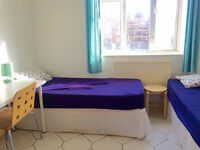 Must see! 2 weeks deposit only! Double - Twin bedroom ready now. Bow, Mile end.