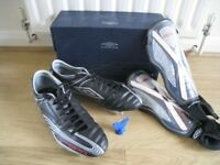 Umbro football boots size 11 + shin pads